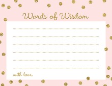 Gold Glitter Graphic Dots Pink Advice Cards