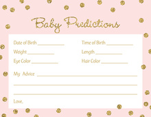 Gold Glitter Graphic Dots Pink Baby Predictions