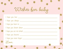 Gold Glitter Graphic Dots Pink Baby Wishes