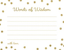 Gold Glitter Graphic Dots Advice Cards