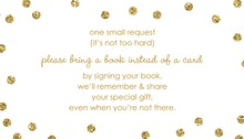 Gold Glitter Graphic Dots Bring A Book Card