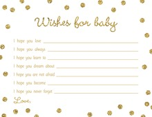 Gold Glitter Graphic Dots Baby Wishes