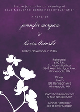 White Floral Silhouette Majestic Wash Invitations