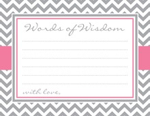 Grey Chevron Pink Border Advice Cards