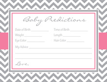 Grey Chevron Pink Border Baby Predictions