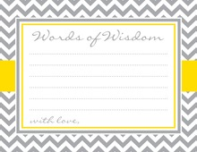 Grey Chevron Mustard Border Advice Cards
