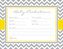Grey Chevron Mustard Border Baby Predictions