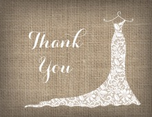 White Lace Gown Thank You Cards