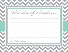 Grey Chevron Aqua Border Advice Cards
