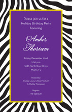 Wild Zebra Skin Black Invitations