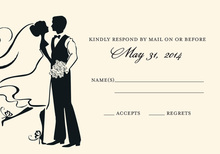Silhouette Couple Dancing RSVP Cards