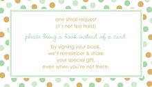 Mint Gold Dots Bring A Book Card