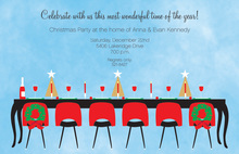 Blue Sky Festive Holiday Dinner Invitations