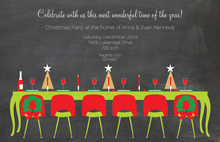 Festive Holiday Dinner Party Chalkboard Invites