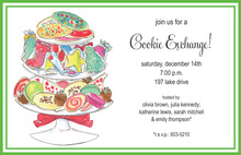 Cookie Stand Green Holiday Invitations