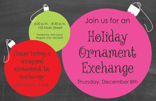 Ornament Joy Chalkboard Invitations