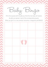 Blue Chevron Elephant Baby Shower Bingo Cards