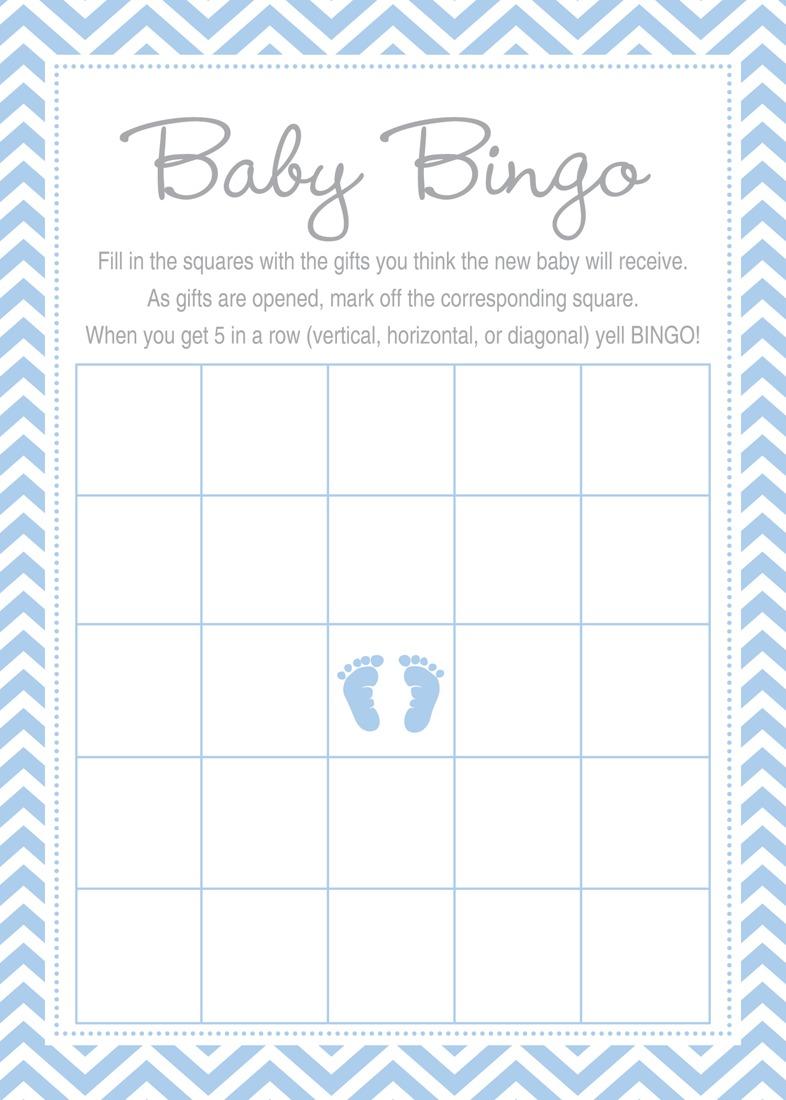 48 Cnt Blue Baby Feet Footprint Advice Cards
