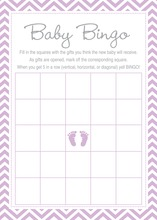 Purple Baby Feet Footprint Baby Bingo Game