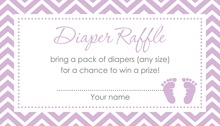 Purple Baby Feet Footprint Raffle Cards