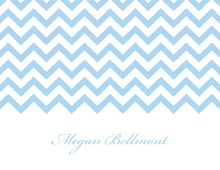 Blue Chevrons Personalized Folded Note