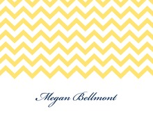 Yellow Chevrons Personalized Folded Note
