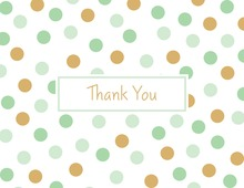Mint Gold Dots Thank You Cards