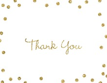 Gold Glitter Graphic Dots Thank You Cards