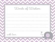 Purple Chevron Elephant Advice Cards
