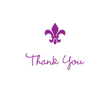 Purple Fleur de lis Note Cards