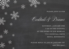 Snow Flakes Chalkboard Holiday Invitations