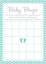 Teal Baby Feet Footprint Baby Bingo