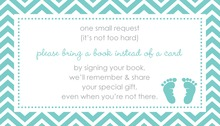 Teal Baby Feet Footprint Bring A Book Card
