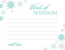 Aqua Snowflakes Advice Cards