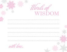 Pink Snowflakes Advice Cards