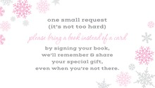 Pink Snowflakes Bring A Book Card