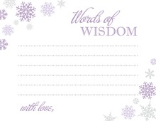 Purple Snowflakes Advice Cards