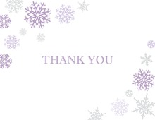 Purple Snowflakes Note