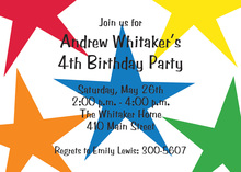 All Star Birthday Party Invitations