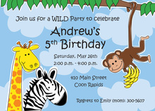Zippity Zoo Kids Invitations