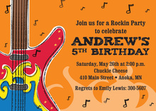 Rock On Kids Invitations