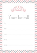 Pink Tiara Chevron Border Fill-in