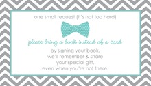 Aqua Bow Tie Bring A Book Card