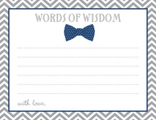 Navy Bow Tie Baby Shower Advice Cards