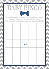 Navy Bow Tie Baby Shower Bingo Cards