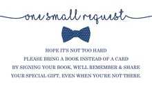 Navy Bow Tie Bring A Book Card