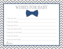 Navy Bow Tie Baby Wish Cards
