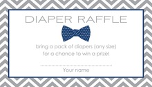 Navy Bow Tie Baby Shower Raffle Cards