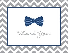 Navy Bow Tie Note