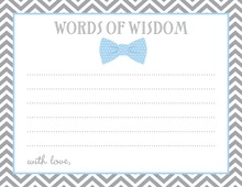 Baby Blue Bow Tie Advice Cards
